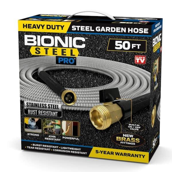 Bionic Steel Pro 25 Ft Heavy Duty, 25 Ft Garden Hose Home Depot