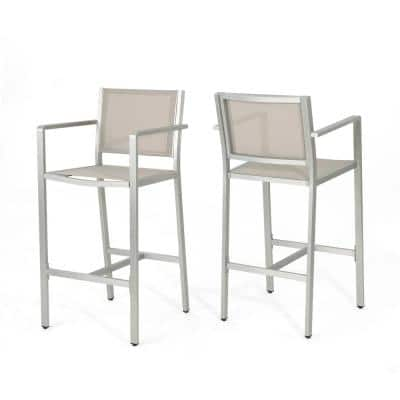 Cape Coral Stackable Aluminum Outdoor Bar Stool (2-Pack)