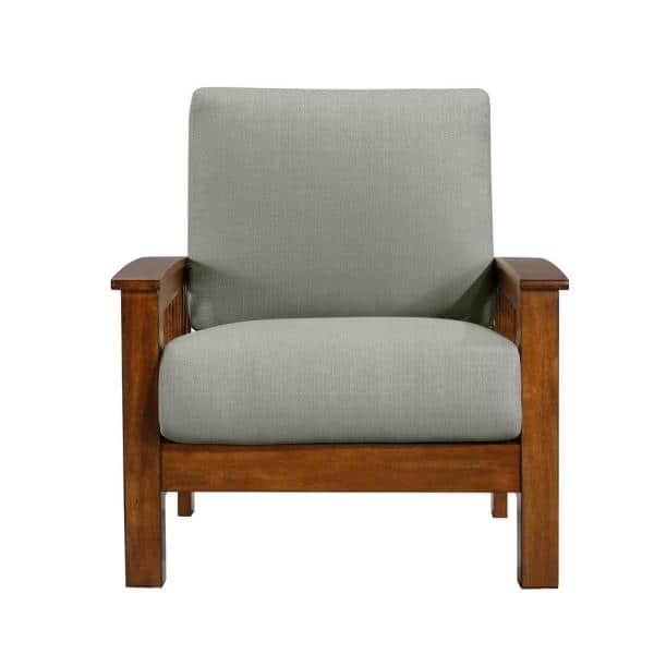 Handy Living Omaha Mission Style Arm, Accent Chairs With Wooden Arms