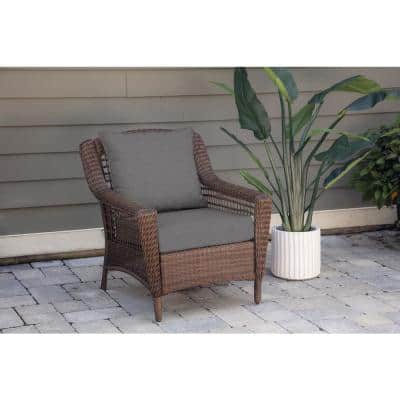 Oak Cliff 24 x 24 Sunbrella Cast Slate Deep Seating Outdoor Lounge Chair Cushion