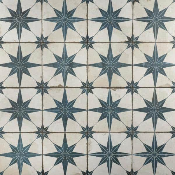 Merola Tile Take Home Sample Kings Star Blue 9 In X Ceramic Floor And Wall S1fpestrb The Depot