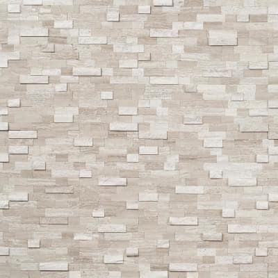 Luxe Core Brick Gray 10.82 in. x 11.8 in. Marble Peel and Stick Tile (0.88 Sq. Ft. / Sheet)