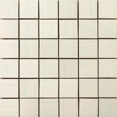 Strands Pearl 12 in. x 12 in. x 10 mm Porcelain Mesh-Mounted Mosaic Tile (0.96 sq. ft.)