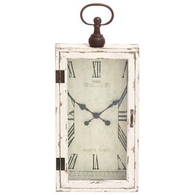 White Wood Vintage Wall Clock