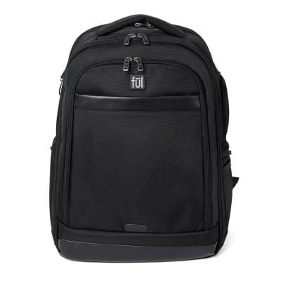 Agent 17.5 in. Black Business Backpack