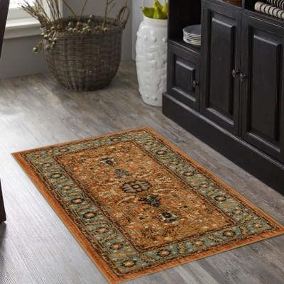 Mariah Spice 2 ft. x 4 ft. Scatter Rug