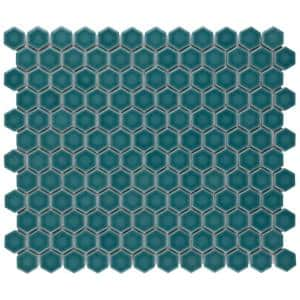 Tribeca 1 in. Hex Jade 10-1/4 in. x 11-7/8 in. Porcelain Mosaic Tile (8.65 sq. ft./Case)