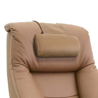 Sand Tan Top Grain Leather Cervical Pillow