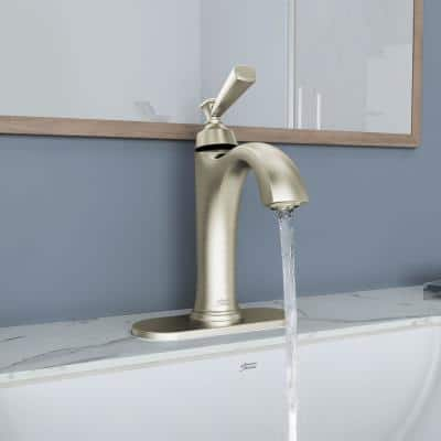 Rumson Single Hole Single-Handle Bathroom Faucet in Brushed Nickel