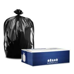 50 in. W x 48 in. H 65 Gal. 1.5 mil Black Gusset Seal Rollout Trash Bags(100-Case)