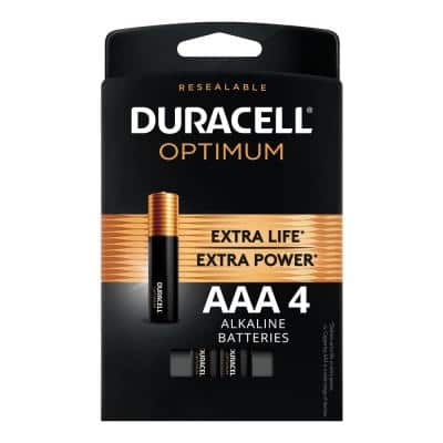 Optimum AAA Alkaline Battery (4-Pack)