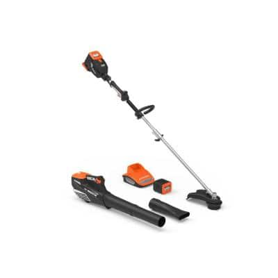 60-Volt Cordless 2.5 Ah Lithium-ion String Trimmer, Leaf Blower, Battery and Charger Combo Kit (4-Tool)