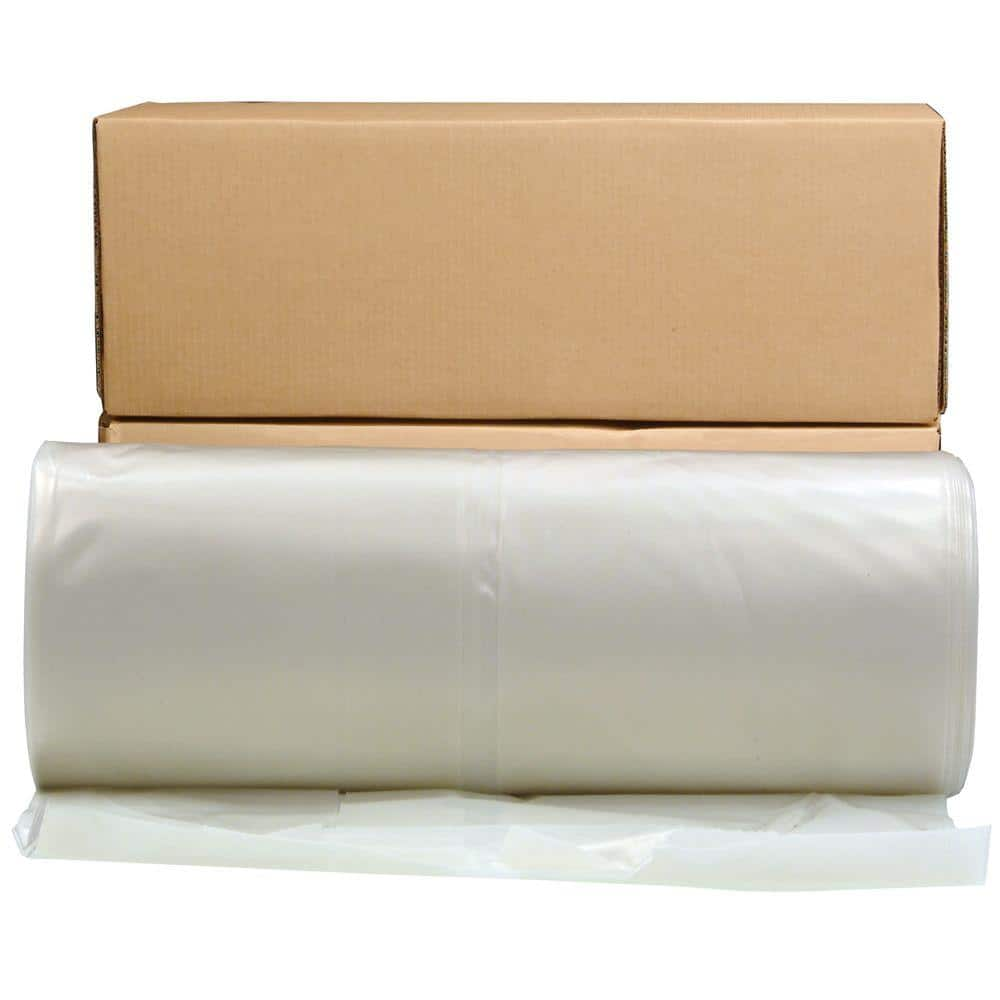 HUSKY 28 ft. x 100 ft. Clear 6 mil Plastic Sheeting