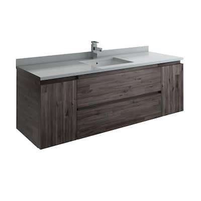 60 Inch Vanities Floating Bathroom Vanities Bath The Home Depot
