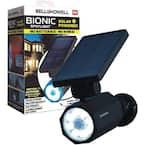 4-Watt Solar Powered Motion Activated Integrated LED Black Outdoor Bionic Spotlight Night Light