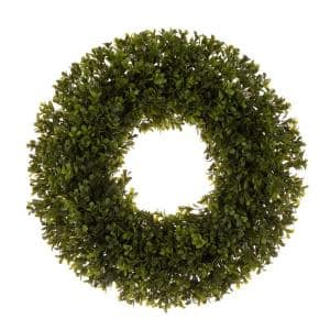 18 in. D Artificial Boxwood Wreath