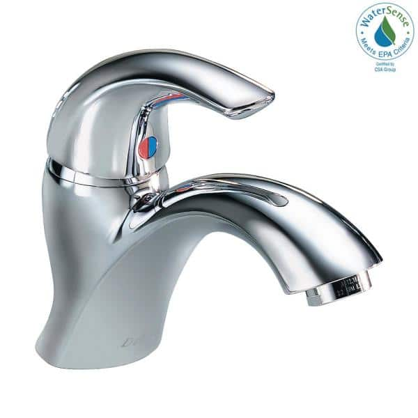 Delta Commercial Single Hole Single Handle Bathroom Faucet In Chrome 22c601 The Home Depot