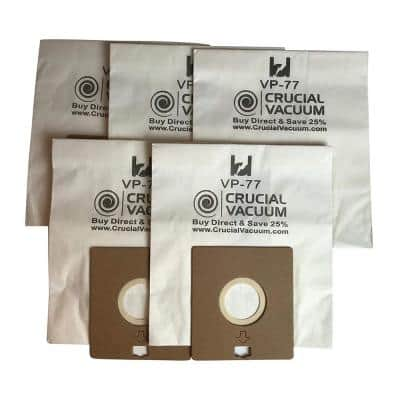 VP-77 Vacuum Bags Replacement for Bissell DigiPro Part 203-2026, 32023 and 32115 (5-Pack)