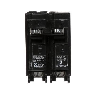 110 Amp 2-Pole QPH 22 kA Circuit Breaker