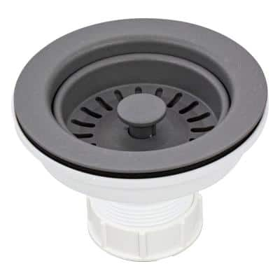 3.5 in. Plastic Strainer in Grey