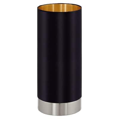 Maserlo 10 in. Matte Nickel Table Lamp