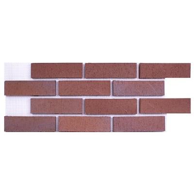 28 in. x 10.5 in. x 0.625 in. (6.99 sq. ft.) Brickwebb Shanghai Thin Brick Sheets Flats (Box of 4-Sheets)