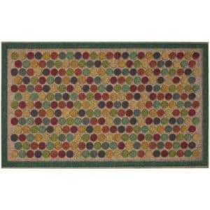 Colorful Dots Bright 18 in. x 30 in. Ornamental Entry Mat