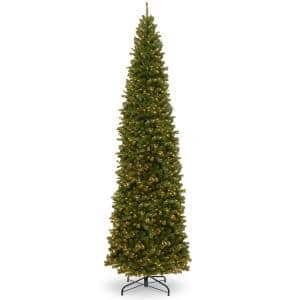16 ft. North Valley Spruce Pencil Slim Tree with Clear Lights