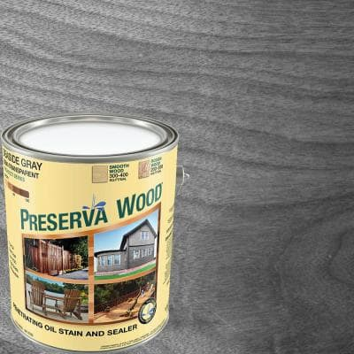 1 Gal. Driftwood Gray Semi-Solid Exterior Wood Stain and Sealer