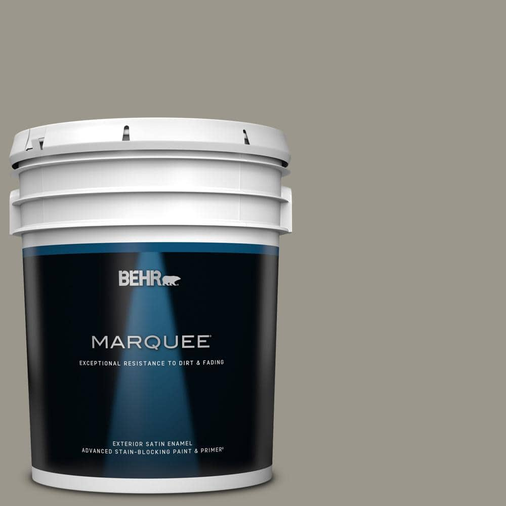 Behr Marquee 5 Gal Mq2 60 Iron Gate Satin Enamel Exterior Paint Primer 945405 The Home Depot