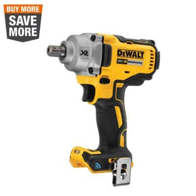 20-Volt MAX XR Cordless Brushless 1/2 in. Mid-Range Impact Wrench with Detent Pin Anvil & Tool Connect (Tool-Only)