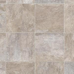 Wheaton Tile Stone Residential Vinyl Sheet Flooring 13.2ft. Wide x Cut to Length