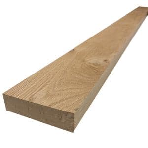 2 in. x 6 in. x 6 ft. Red Oak S4S Board