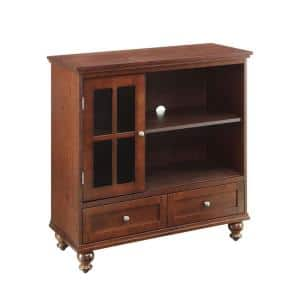 Tahoe 36 in. Espresso Wood TV Stand with 2 Drawer Fits TVs Up to 42 in. with Doors