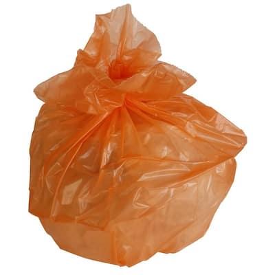 50 Gal. 3 mil 38 in. x 58 in. Orange Trash Bags (50- Count)