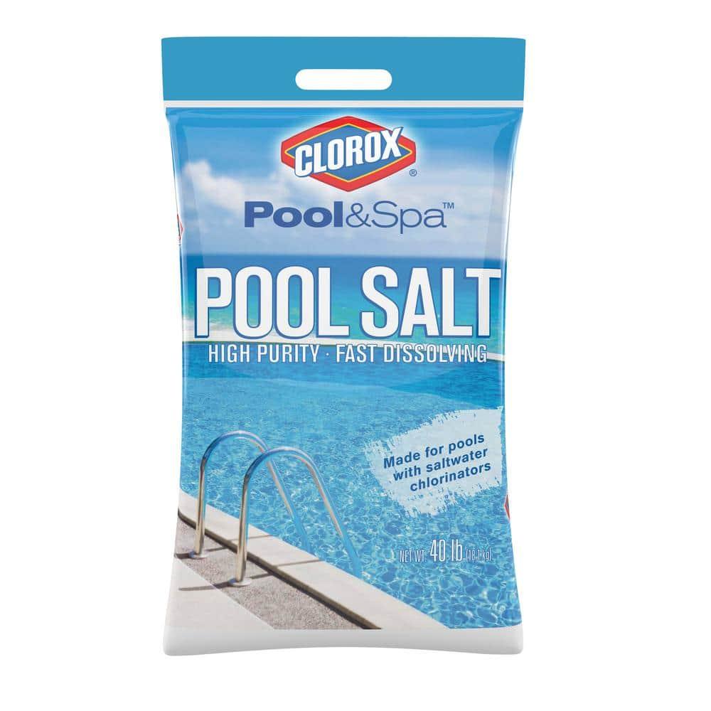 Clorox Pool And Spa 40 Lbs Pool Salt 40b Clxpool The Home Depot