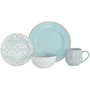 16-Piece Alara Mint Ceramic Dinnerware Set (Service for 4)