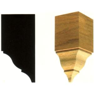 3-1/2 in. x 3-1/2 in. x 7-3/4 in. Hardwood Inside Crown Corner Block Moulding