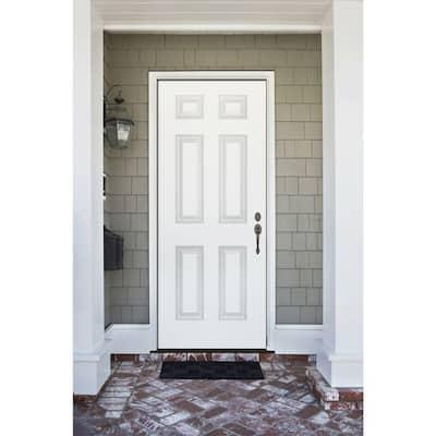 Premium 6-Panel Primed Steel Prehung Front Door
