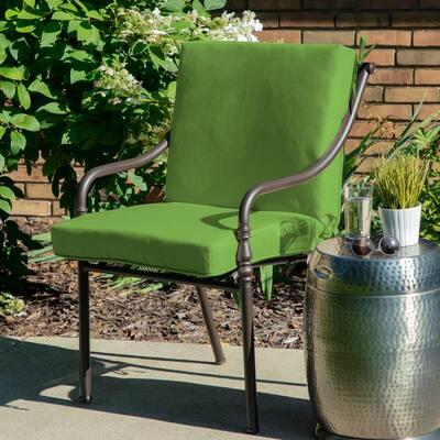 Oak Cliff 22 x 40 Sunbrella Canvas Gingko Mid Back Outdoor Dining Chair Cushion