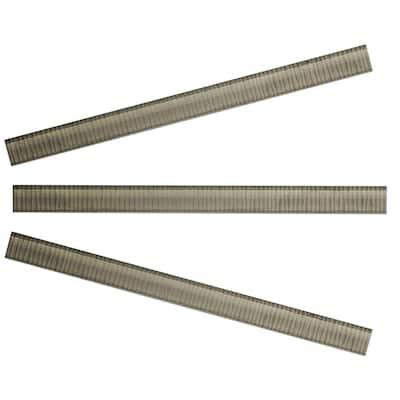 Vitre Greige 15 in. x 1 in. Glass Pencil Tile Trim (3-Pack)