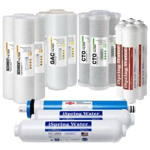 6-Stage Reverse Osmosis RO System 2-Year Replacement Water Filter Cartridge Pack, with Alkaline Filter 10 in. x 2.5 in.