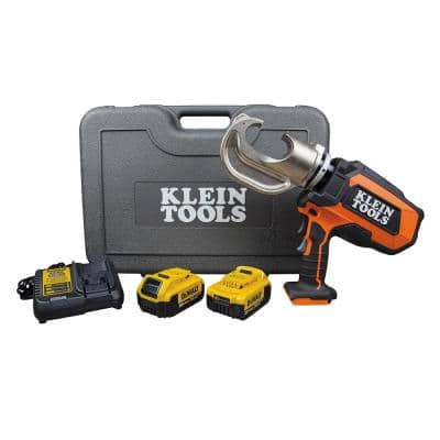 Battery-Operated 12-Ton Crimper with Two 4 Ah Batteries, Charger and Case