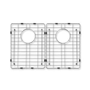 Dixon 17-1/8 in. x 15-5/8 in. Wire Grid for Double Bowl Kitchen Sinks in Stainless Steel
