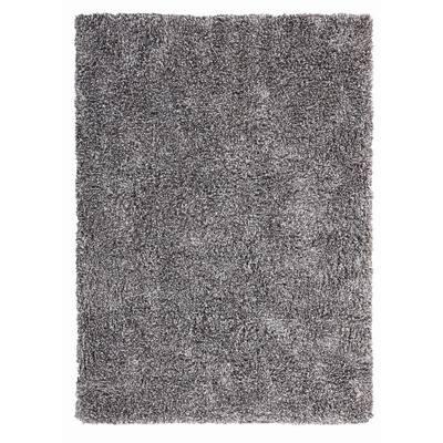 Microfiber Polyester Shag Medium Grey 5 ft. x 7 ft. Canilla Area Rug