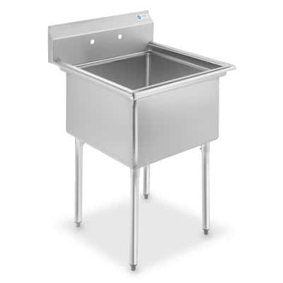 30 in. Freestanding Stainless Steel 1-Compartment Commercial Kitchen Sink