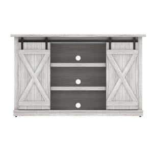 Cottonwood 54 in. Sargent Oak and White TV Stand Fits TV's up to 60 in. with Storage Doors