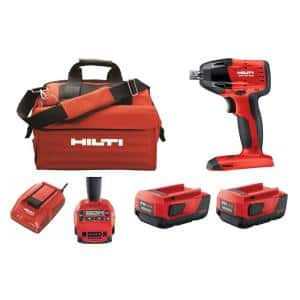 SIW 6AT 22-Volt Lithium-Ion Cordless Impact Wrench Kit with Adaptive Torque Module, 4.0 Ah Batteries, Charger and Bag