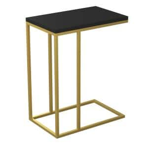 Accent Table Black And Gold Frame