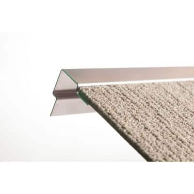 4 ft. Standard Stair Nosing in Stainless Steel for Carpet (1/4 in. Profile)